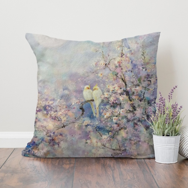 Chating under the moon Custom Pillowcase