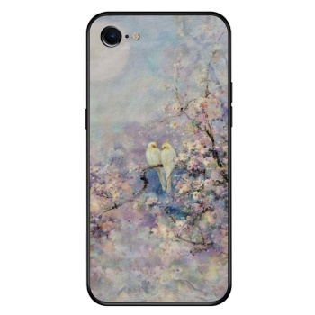 Chating under the moon Custom Toughened Phone Case For Iphone 8