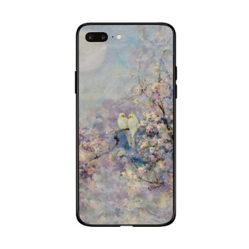 Chating under the moon Custom Toughened Phone Case For Iphone 8 Plus
