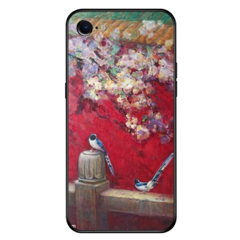 Birds and flowers 2 Custom Toughened Phone Case For Iphone 8