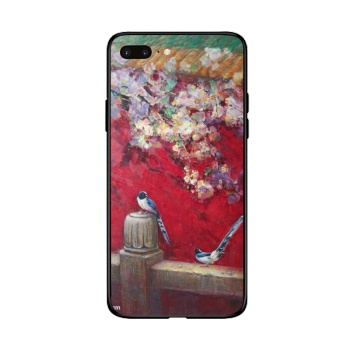 Birds and flowers 2 Custom Toughened Phone Case For Iphone 8 Plus