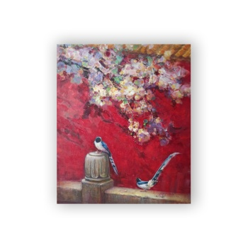 Birds and flowers 2 Custom Hanging Picture Decoration Picture,Canvas Print