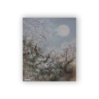 Chatting under the moon 1 Custom Hanging Picture Decoration Picture,Canvas Print