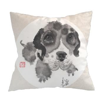 Big eyes dog 1 Custom Pillowcase