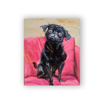 Big eyes dog 11 Custom Hanging Picture Decoration Picture,Canvas Print