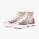 Silk roads Custom High Top Canvas Shoes White