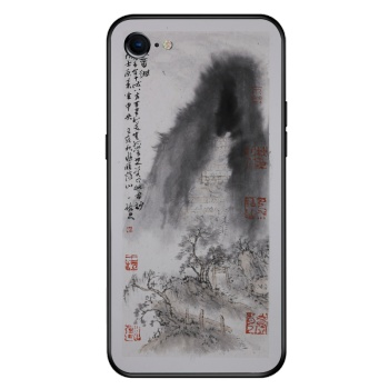 Goddess of mercy hole Custom Toughened Phone Case For Iphone 8