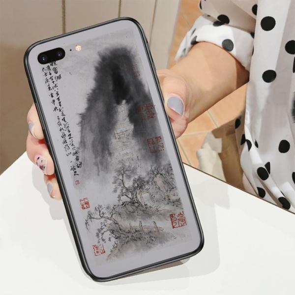 Goddess of mercy hole Custom Toughened Phone Case for iPhone 8 Plus