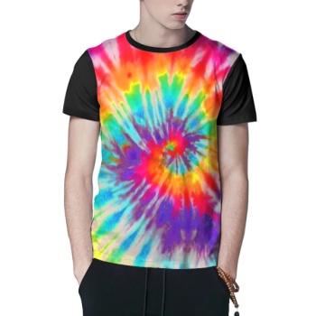 Color rotation Custom Men's Crew-Neckone T-shirt