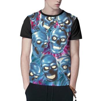 Skeleton 1  Custom Men's Crew-Neckone T-shirt