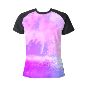 Color cloud Custom Women's Crew Neckone T-shirt