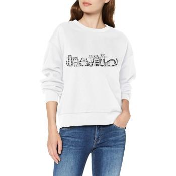 Cartoon cat Custom Women's White Crew Neck Sweater