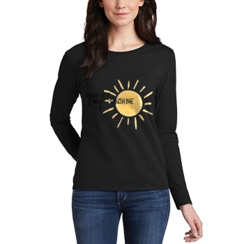 You Are My Sunshing Custom Women's Long Sleeve T-shirt Black
