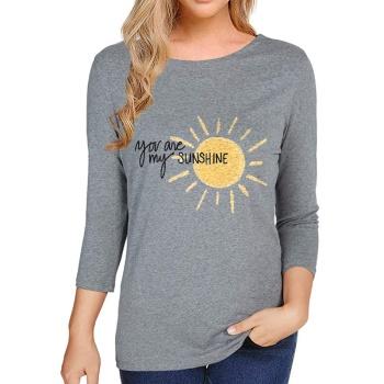 You Are My Sunshing Custom Women's Long Sleeve T-shirt Gray