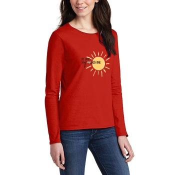 You Are My Sunshing Custom Women's Long Sleeve T-shirt Red