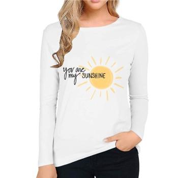 You Are My Sunshing Custom Women's Long Sleeve T-shirt White
