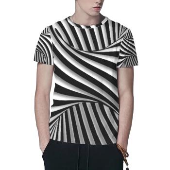 Explosive Stripes Custom All Surface  Men's T-shirt