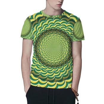Illusion Of Stripe Custom All Surface  Men's T-shirt