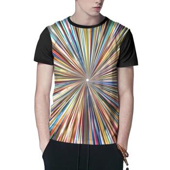 Radiation lines Custom Men's Crew-Neckone T-shirt