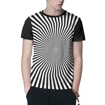 Explosive Stripes Custom Men's Crew-Neckone T-shirt