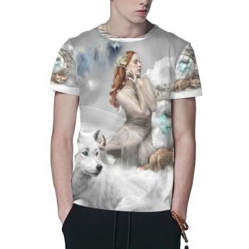 Wolves And Women Custom All Surface  Men's T-shirt