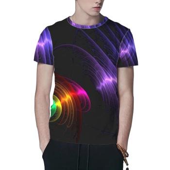 Sound Waves Custom All Surface  Men's T-shirt
