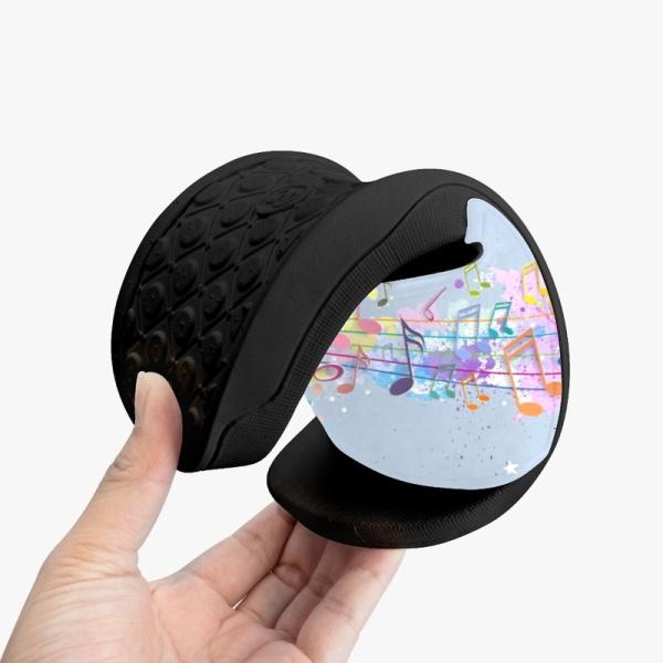 Music Color Custom Slippers Black