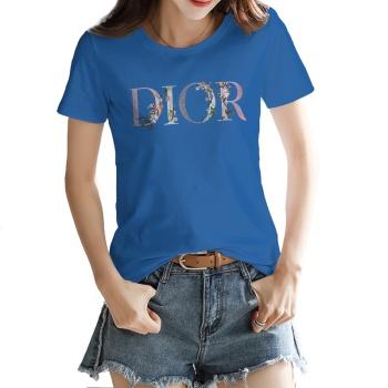 Dio Flowers Custom Women's T-shirt Dark Blue
