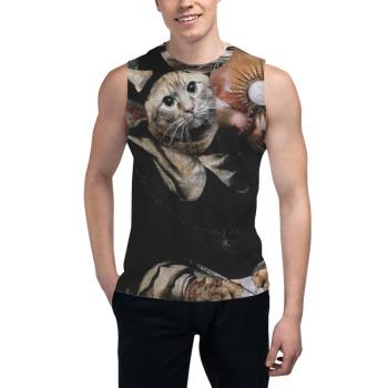 GINGER TABBY Custom Men's Sleeveless T-shirt