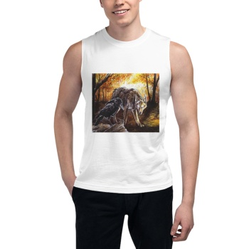 The Raven and the Coyote Custom Men's Sleeveless T-shirt