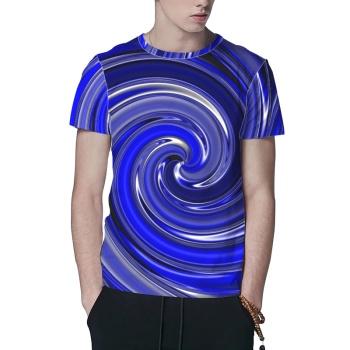 Swirl Custom All Surface  Men's T-shirt