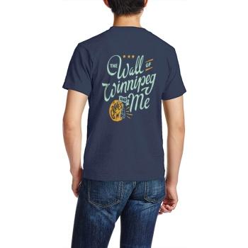 southern attitude shirts Custom Men's Crew-Neckone T-shirt Navy Blue