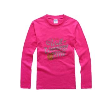 southern attitude shirts The Wall Of Winnipeg Men's Round Neck Long Sleeve T-shirt Bright Rose Red