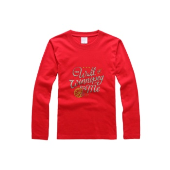 southern attitude shirts The Wall Of Winnipeg Men's Round Neck Long Sleeve T-shirt Bright Red