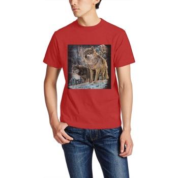 Wolves The Mountain Custom Men's T-shirt