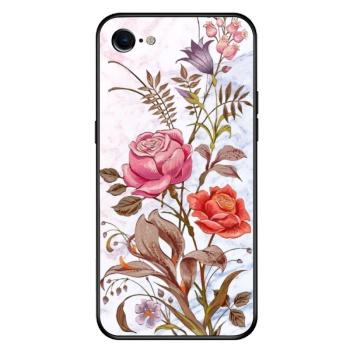 vintage flower Custom Toughened Phone Case For Iphone 8