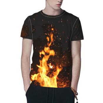 Fire Custom All Surface  Men's T-shirt