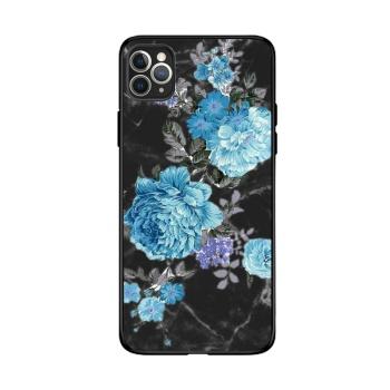 Peony Flowers Custom Toughened Phone Case For Iphone