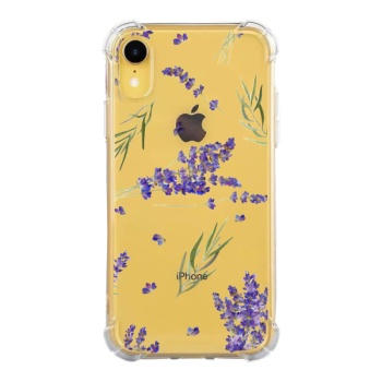 Lavender Flowers Leafed Custom Phone Case For Iphone