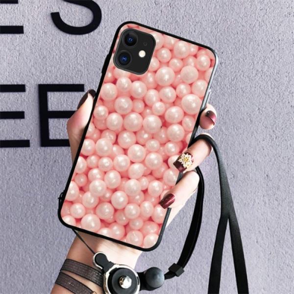 Pink Sugar Pearls Burga Cases Custom Toughened Phone Case for iPhone 11
