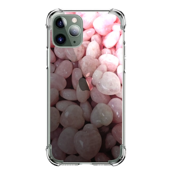 Rose Quartz Heart Burga Cases Custom Transparent Phone Case for iPhone 11 Pro Max