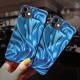 burga phone cases Blue cloth Custom Toughened Phone Case for iPhone 12