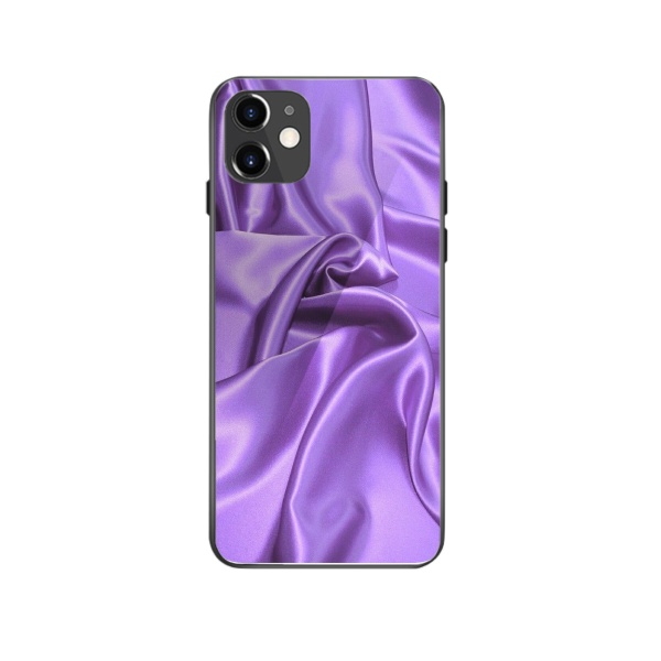 burga phone cases Purple cloth Custom Toughened Phone Case for iPhone 12 Mini