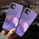 burga phone cases Purple Vibes Custom Toughened Phone Case for iPhone 12