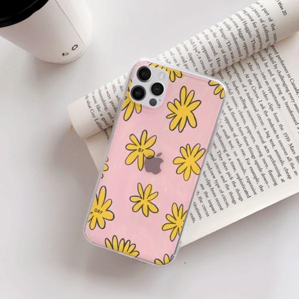 burga phone cases Yellow flowers Custom Transparent Phone Case for iPhone 12 Pro
