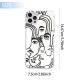 burga phone cases Female Art Custom Transparent Phone Case for iPhone 12 Pro