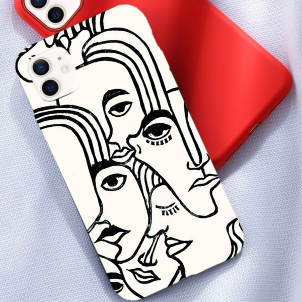 burga phone cases Female Art Custom Liquid Silicone Phone Case for iPhone 12 Mini