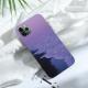 burga phone cases Purple Aesthetic Custom Liquid Silicone Phone Case for iPhone 12 Pro Max