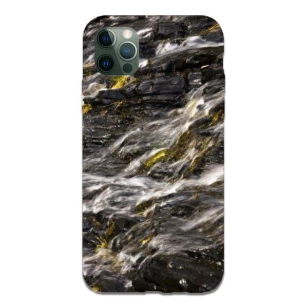 burga phone cases Waterfall Bay Custom Liquid Silicone Phone Case for iPhone 12 Pro