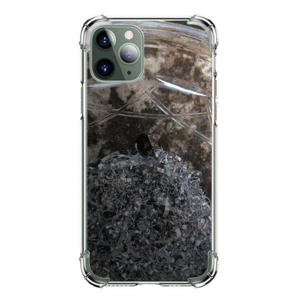 burga phone cases Metal sheets Custom Transparent Phone Case for iPhone 11 Pro Max